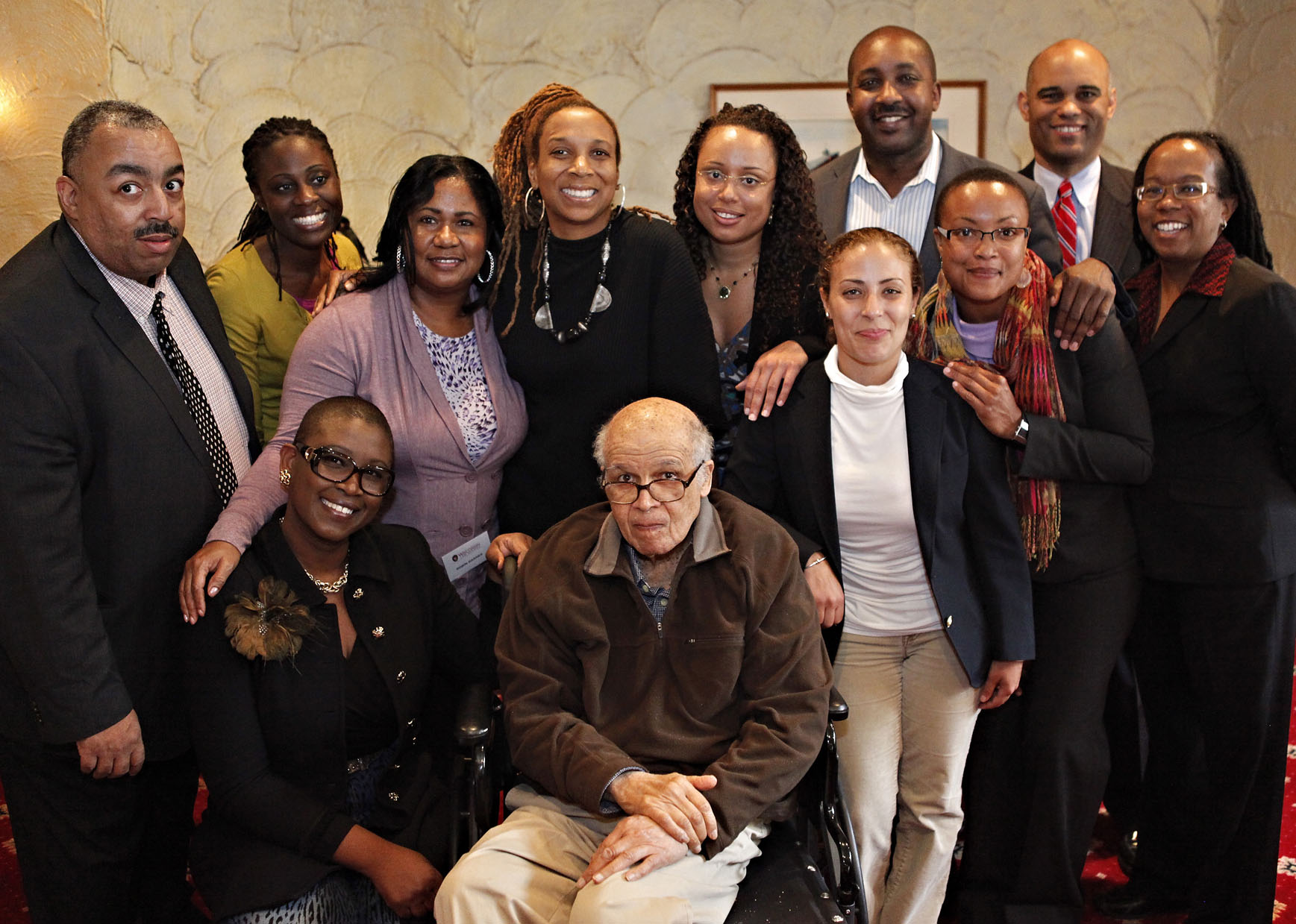 Front row: Michele Goodwin, James E. Jones, Jr., Lahny Silva.  Second Row: Michael Greene, Osamudia James, Robin Barnes, Kimberle Crenshaw, Cary Martin, Mario Barnes, Shalanda Baker, Thomas Mitchell, Adele Morrison