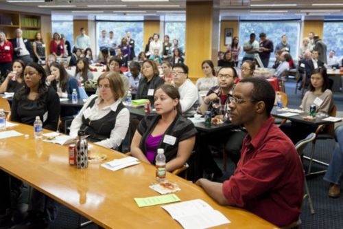 Audience members at the Sept. 15 pro bono event