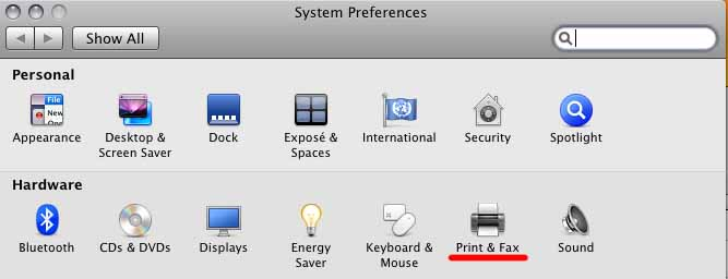 os x.5 system preferences