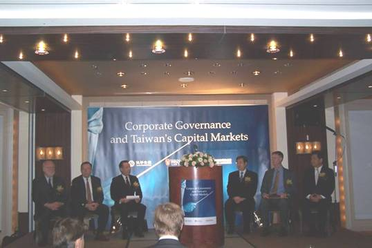 Opening Ceremony; Corporate Governance and Taiwain's Capital Markets