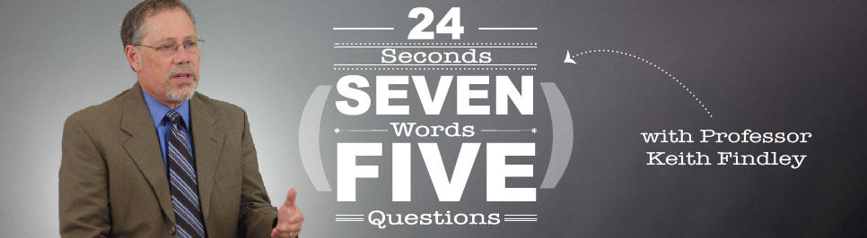 Read more: 24 seconds, 7 words, 5 questions with Professor Keith Findley