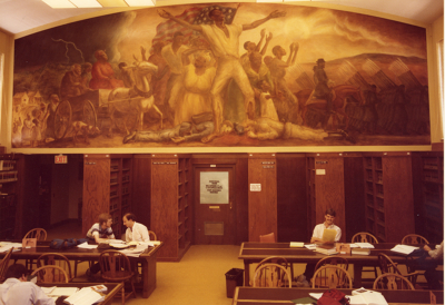 First archival color image of the mural- 1980s.