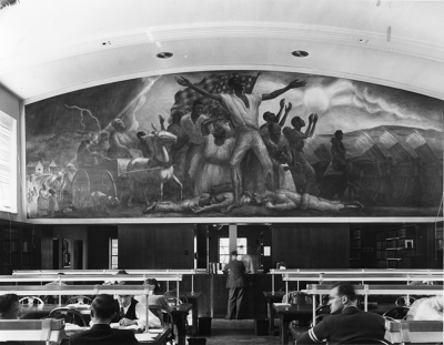 The Curry mural shortly after completion (mid 1940s).