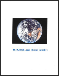 """image of the earth from space with text """"The Global Legal Studies Initiative"""""""