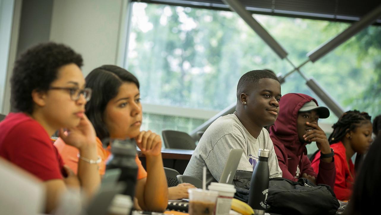 prelaw scholars in classroom