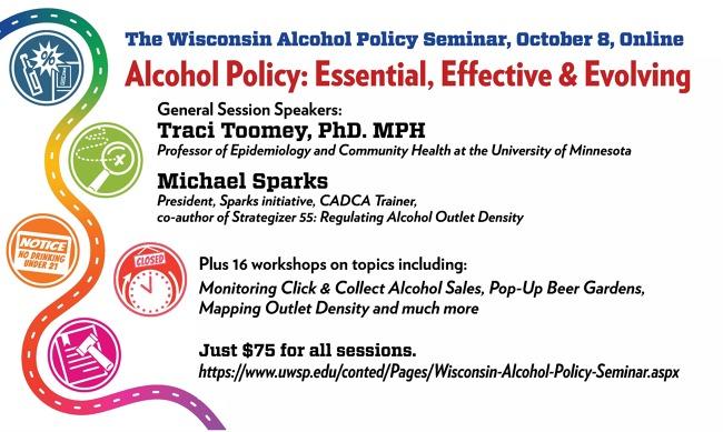 Wisconsin Alcohol Policy Seminar PDF flier
