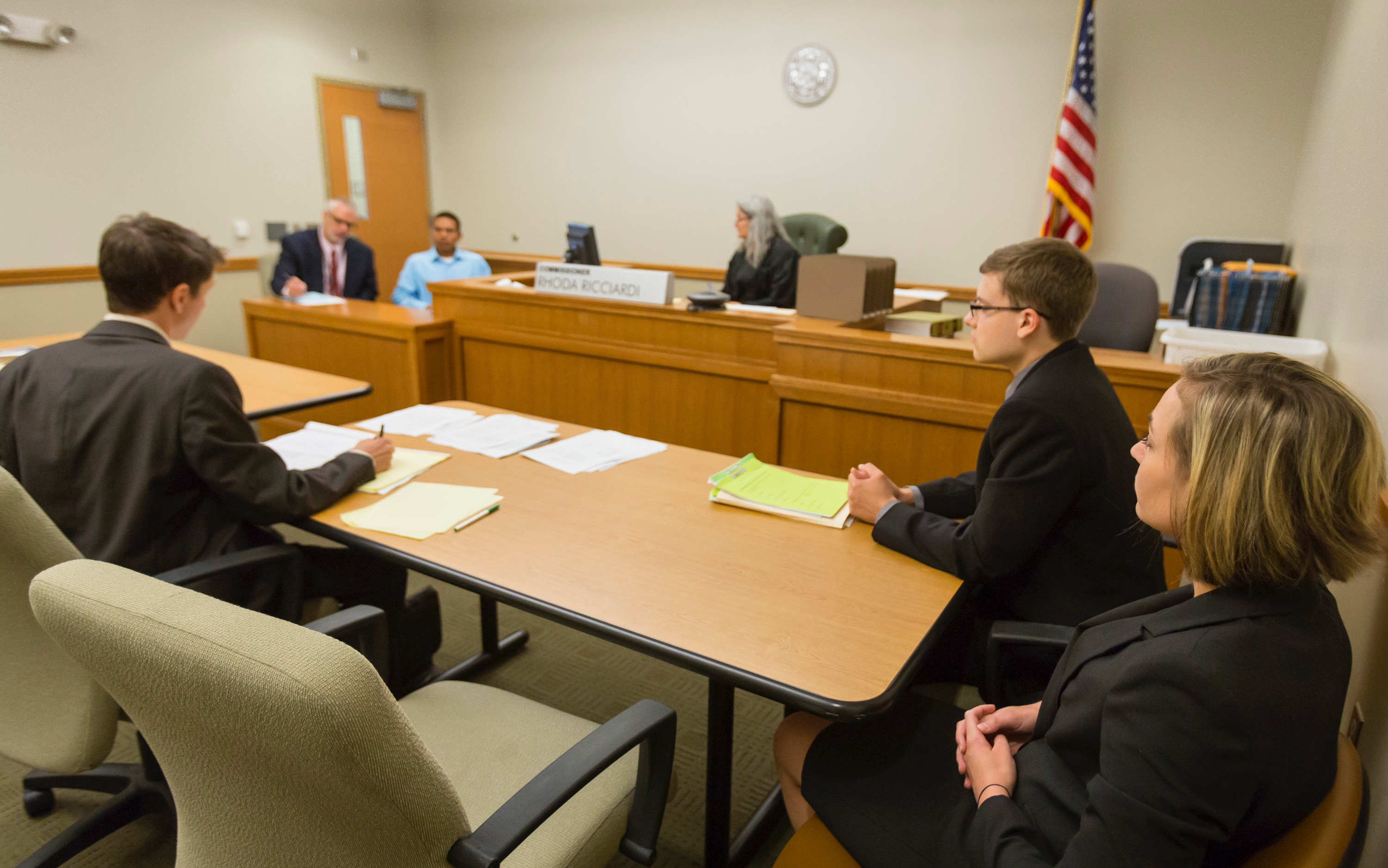 Neighborhood clinic students and professor in court