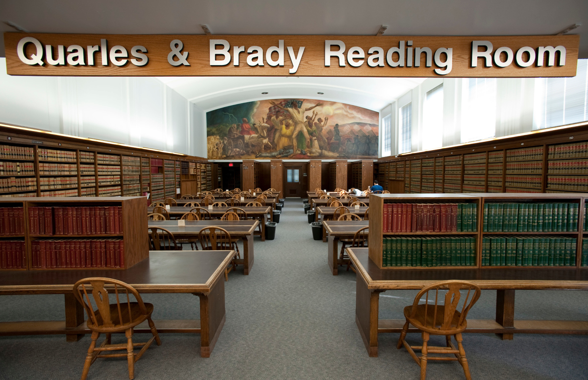 the Quarles & Brady Law Library Reading Room