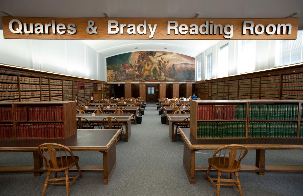 the Quarles & Brady Law Library Reading Room