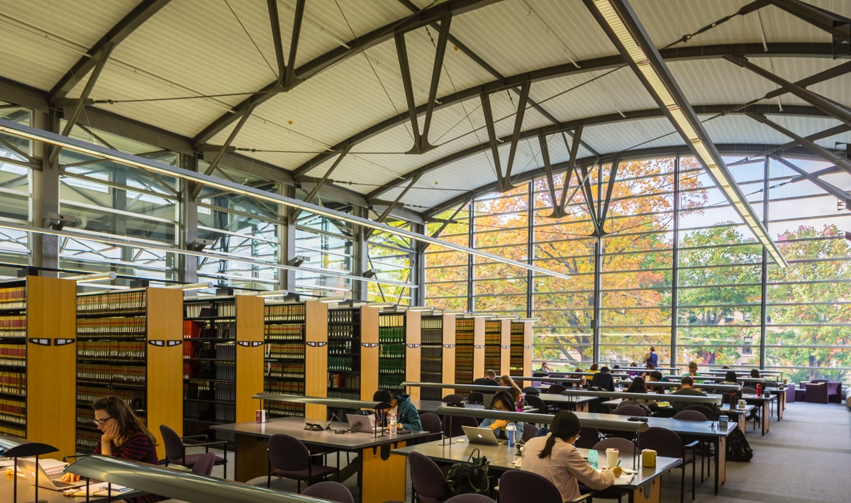 students studying in the UW Law Library