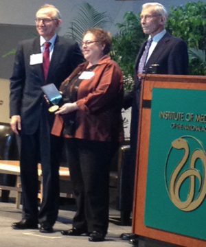 R. Alta Charo receiving the Adam Yarmolinsky Medal