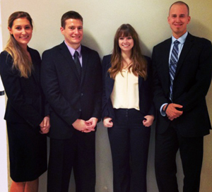 From left, Britta Sahlstrom, Grant Turpin, Kaitlin Kelly and Adam Stevenson.