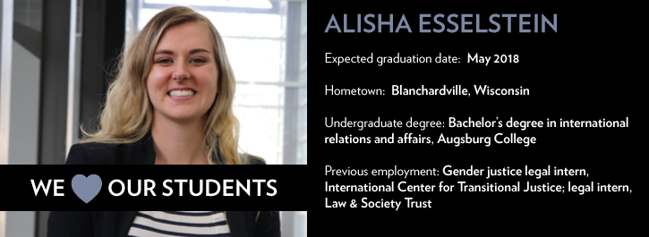 We Heart Our Students: Alisha Esselstein