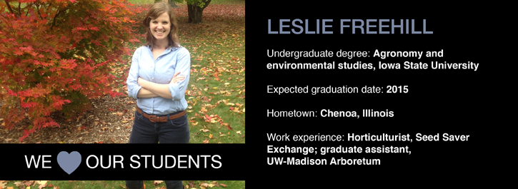 We 'Heart' Our Students: Leslie Freehill