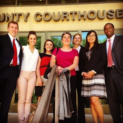 Family Law Project Supervising Attorney Leslie Shear and Students