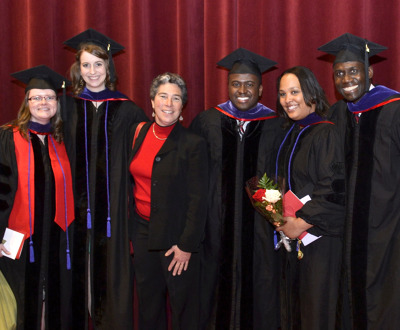 Family Law Clinic students celebrate their graduation