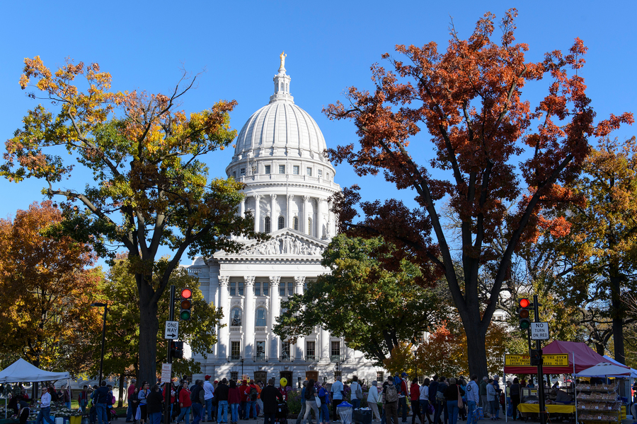 Madison Capitol during the Farmer's Market