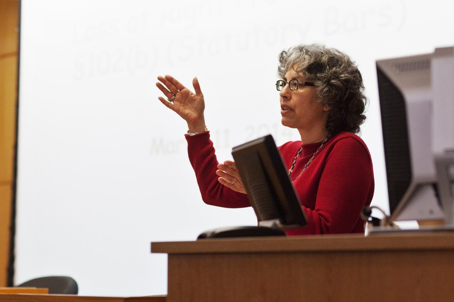 Professor Pilar Ossorio teaching