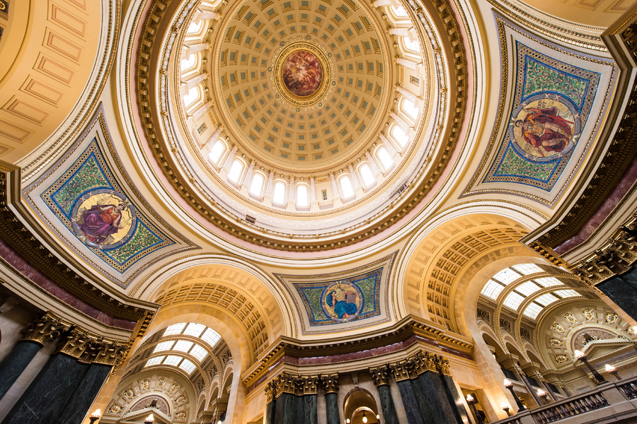 interior shot of the capitol rotunda