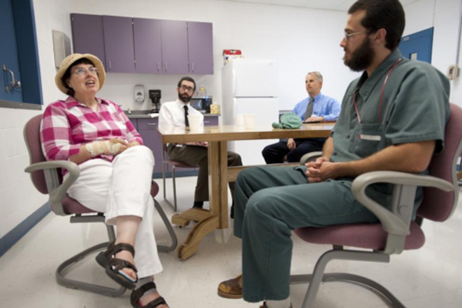 victim-offender dialogue in progress