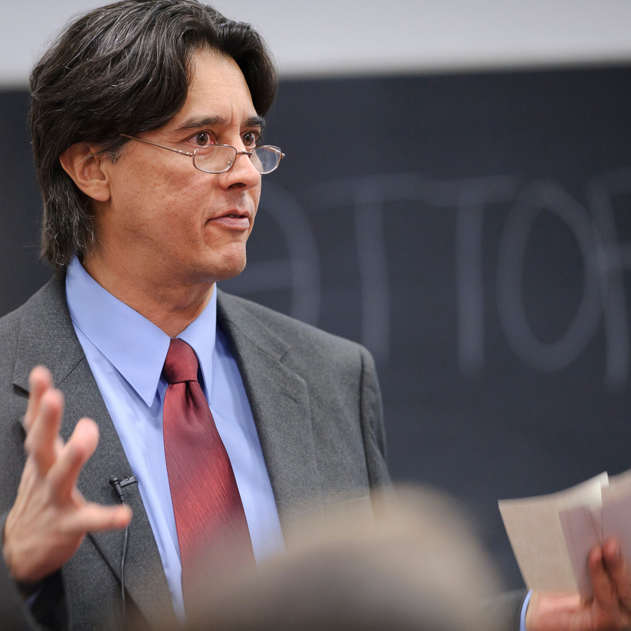 Professor Heinz Klug teaching