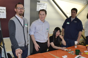 Clinical Instructor Jeremy Newman and FJRC students at 2015 clinic fair
