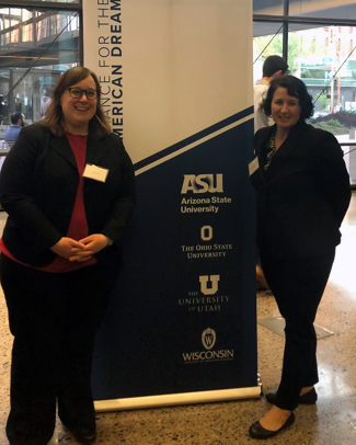 Vicky Selkowe and Sarah Davis at ASU competition