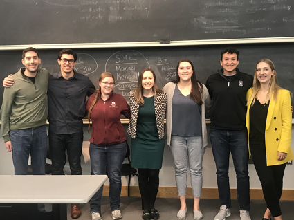 7 members of the 2020-21 WJLGS e-board