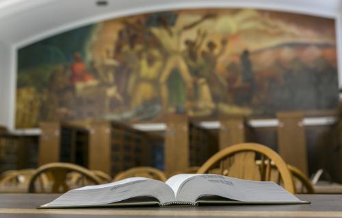 open book in UW Law Library