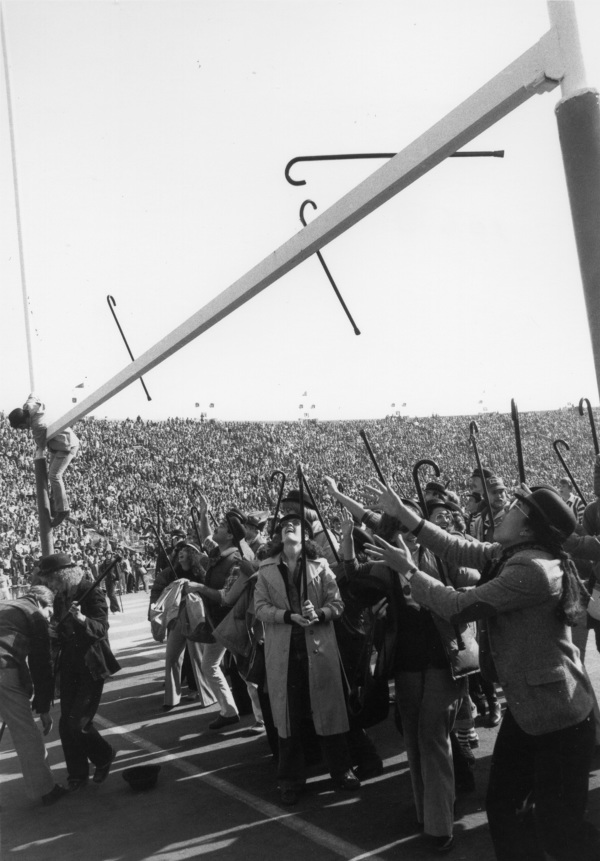 historical photo of the Cane Toss