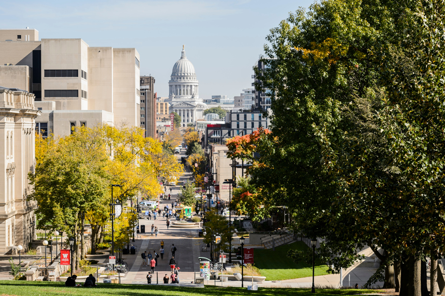 view of capitol from bascom hill up state st